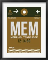 Framed MEM Memphis Luggage Tag I
