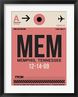 Framed MEM Memphis Luggage Tag II