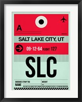 Framed SLC Salt Lake City Luggage Tag I