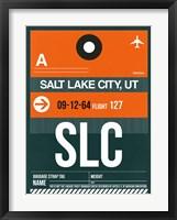 Framed SLC Salt Lake City Luggage Tag II
