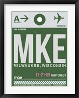 Framed MKE Milwaukee Luggage Tag II