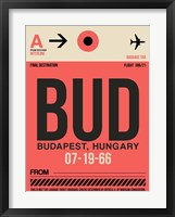 Framed BUD Budapest Luggage Tag I