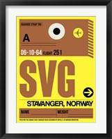 Framed SVG Stavanger Luggage Tag I