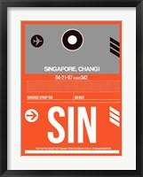 Framed SIN Singapore Luggage Tag II