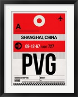 Framed PVG Shanghai Luggage Tag I