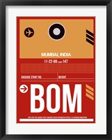 Framed BOM Mumbai Luggage Tag II
