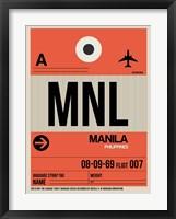 Framed MNL Manila Luggage Tag I