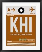 Framed KHI Karachi Luggage Tag II
