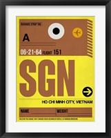 Framed SGN Ho Chi Minh City Luggage Tag I