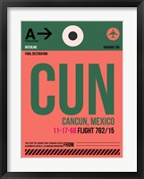 Framed CUN Cuncun Luggage Tag II