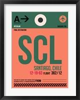 Framed SCL Santiago Luggage Tag I