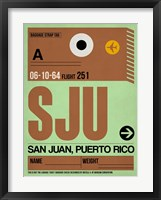 Framed SJU San Juan Luggage Tag I