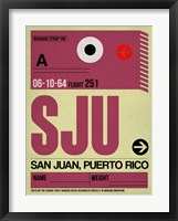 Framed SJU San Juan Luggage Tag II