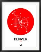 Framed Denver Red Subway Map