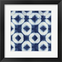 Framed Blue Shibori III