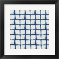 Framed Blue Shibori IV