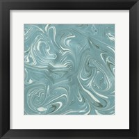 Framed Turquoise Marble II