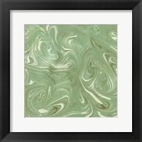 Framed Turquoise Marble V