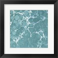 Framed Turquoise Marble VI