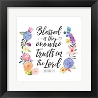 Framed Floral Bible Verse I