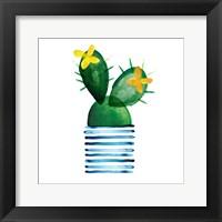 Framed Colorful Cactus I
