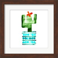 Framed Colorful Cactus II
