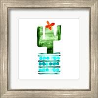 Framed Colorful Cactus II