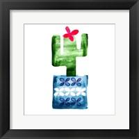 Framed Colorful Cactus VI