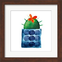 Framed Colorful Cactus VIIII