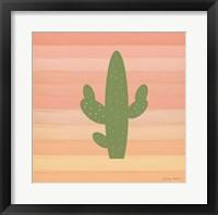 Framed Cactus Desert I