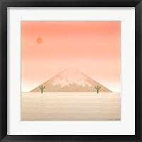 Framed Cactus Desert II