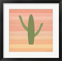 Framed Cactus Desert III