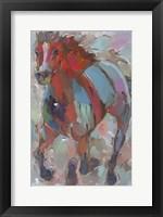 Framed Red Warrior
