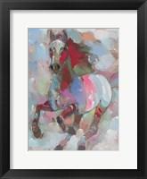 Framed Fiery Stallion
