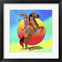 Framed Pop Art Cowgirl