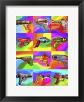 Framed Pop Art Space Guns