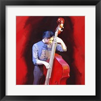 Framed Bass Player