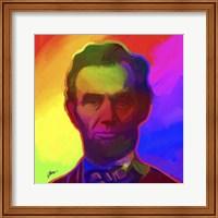 Framed Pop Art Abe Lincoln