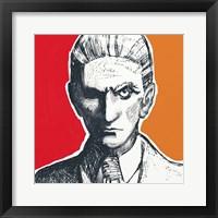 Framed Pop Art Franz Kafka
