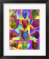 Framed Chinese Zodiac Pop Art