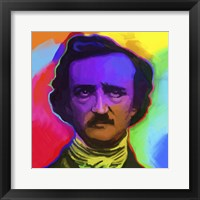 Framed Edgar Allen Poe Pop Art
