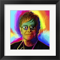 Framed Elton John Pop Art