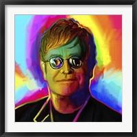 Framed Elton John Pop Art