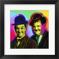 Framed Laurel Hardy Pop Art