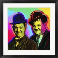 Framed Laurel Hardy Pop Art