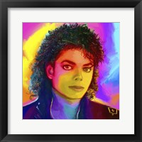 Framed Michael Jackson Pop Art