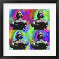 Framed Sam Adams Pop Art