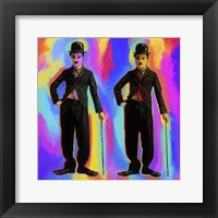Framed Charlie Chaplin Pop Art