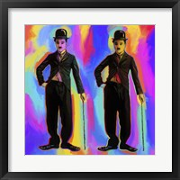 Framed Charlie Chaplin Pop Art