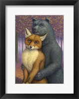 Framed Fox and Bear Couple